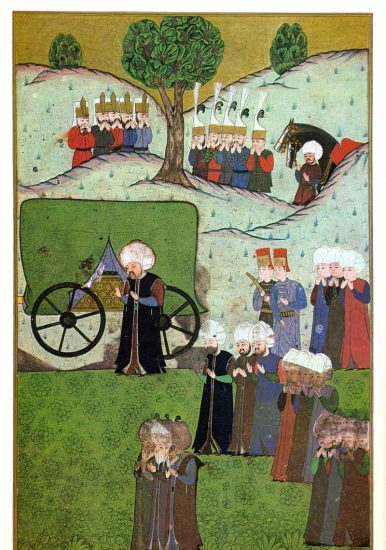 I.-Süleymanın-bedeninin-Belgradtan-dönerken.-Oğlu-İkinci-Selim-onu-bekliyor.-The_body_of_Suleiman