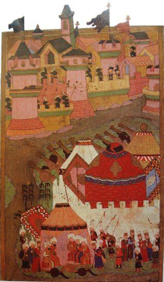 I. Viyana Kuşatması'nı gösteren bir minyatür kanuni Süleyman Bu dosya hakkında daha fazla bilgi. Bir minyatür. Matrakçı Nasuh Ottoman- Bilgisi