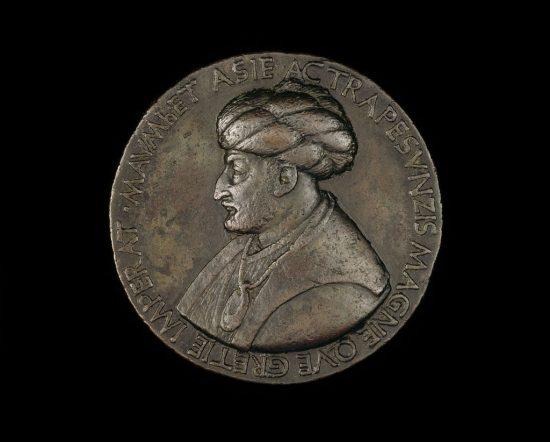 2. Mehmedin-bertoldo-di-giovanni-tarafindan-yapilmis-bir-bronz-madalyonu-1480-mehmed_ii_1432-1481