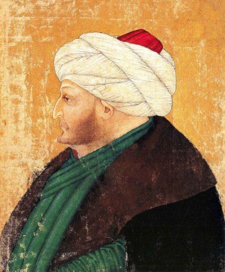 Minyaturu-Mehmed-ve-yilanli-sutun-hunername-16-yy-osmanli-imparatorlugu-Osmanlı İmparatorluğu, Fatih Sultan 2. Mehmed Han Kimdir?