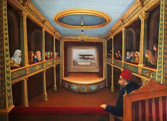 Yıldız Sarayı, Yıldız Tiyatrosu -Abdülhamid Dönemi Sanat Kültür Konser Opera ve Tiyaro Salonu. İstanbul-yildiz-opera. İkinci Abdülhamid, tiyatro oyunları yazar ve oynatırdı.
