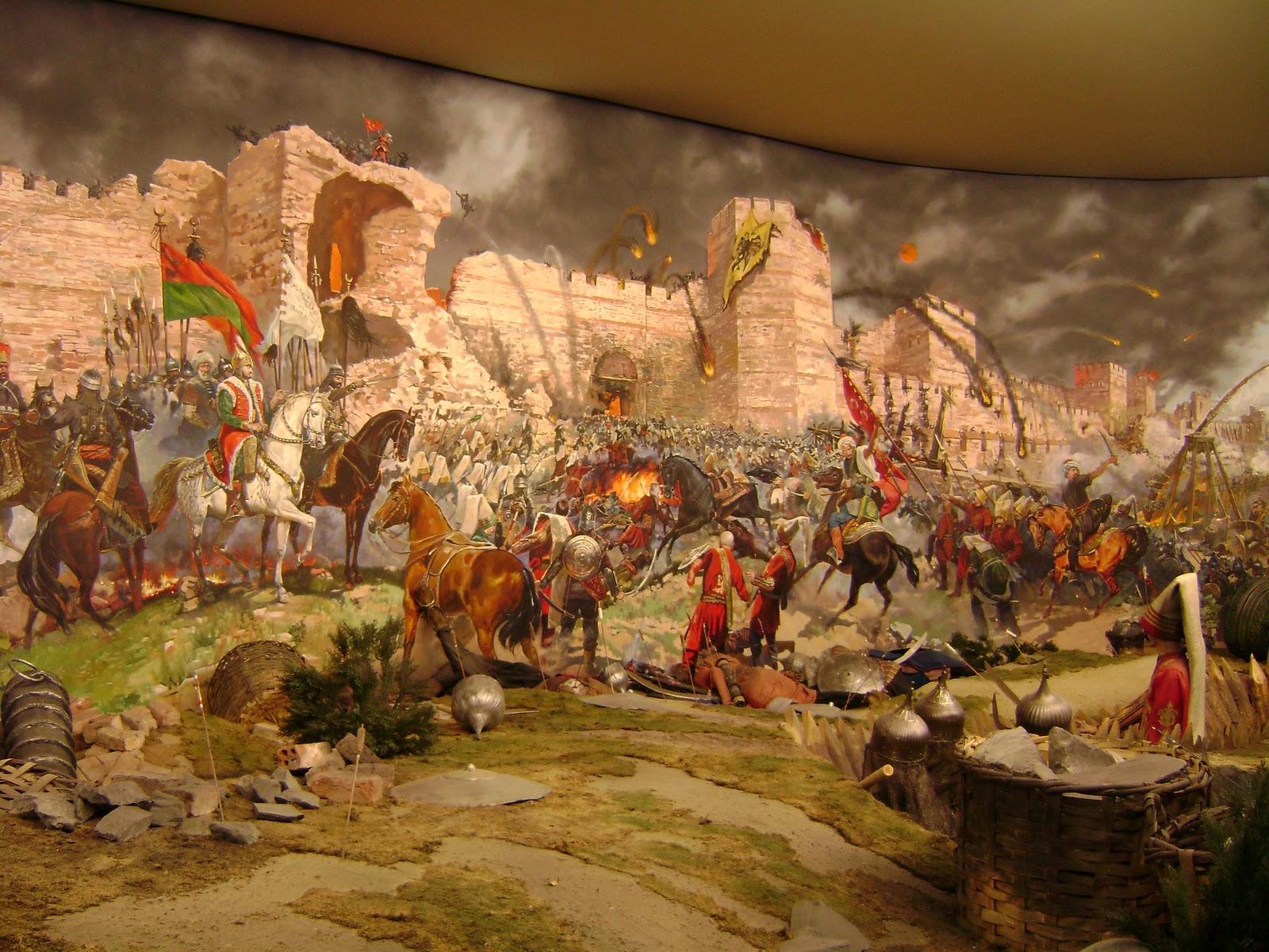 Stanbulun Fethi Yağlı Boya Gerçek Tablosu İstanbul Fetihleri Türk.Dünya Tarihi Sonuçları Özet Madde Fatih Sultan Mehmed Panorama 1453 Tarih Müzesi Resim Kompozisyon