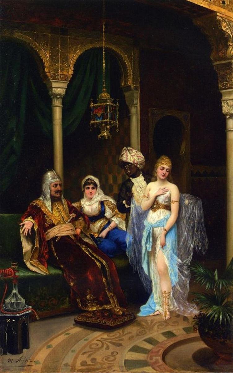 1856 1895 Beauty Of Harem Beauty .Osmanlı Devleti. Ottoman Empire Harem Resimleri . Osmanlı Sarayı Sultanları. İstanbul Tarihi Yağlı Boya Tabloları