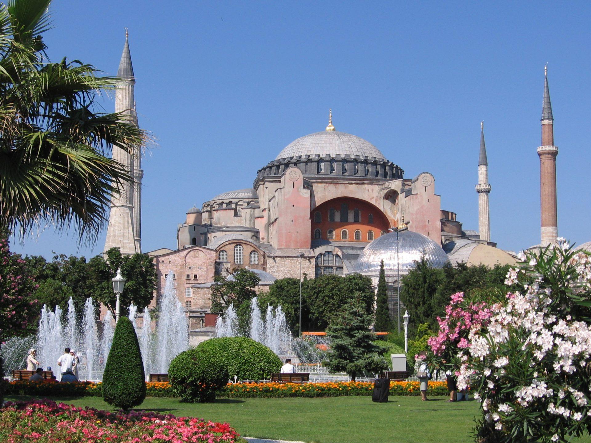Abdülmecid Dönemi İstanbul Ayasofya Camii Tamiratları .Hagia Sophia Aghia Ayasofya Klise Müze Istanbul Turkey Photograph