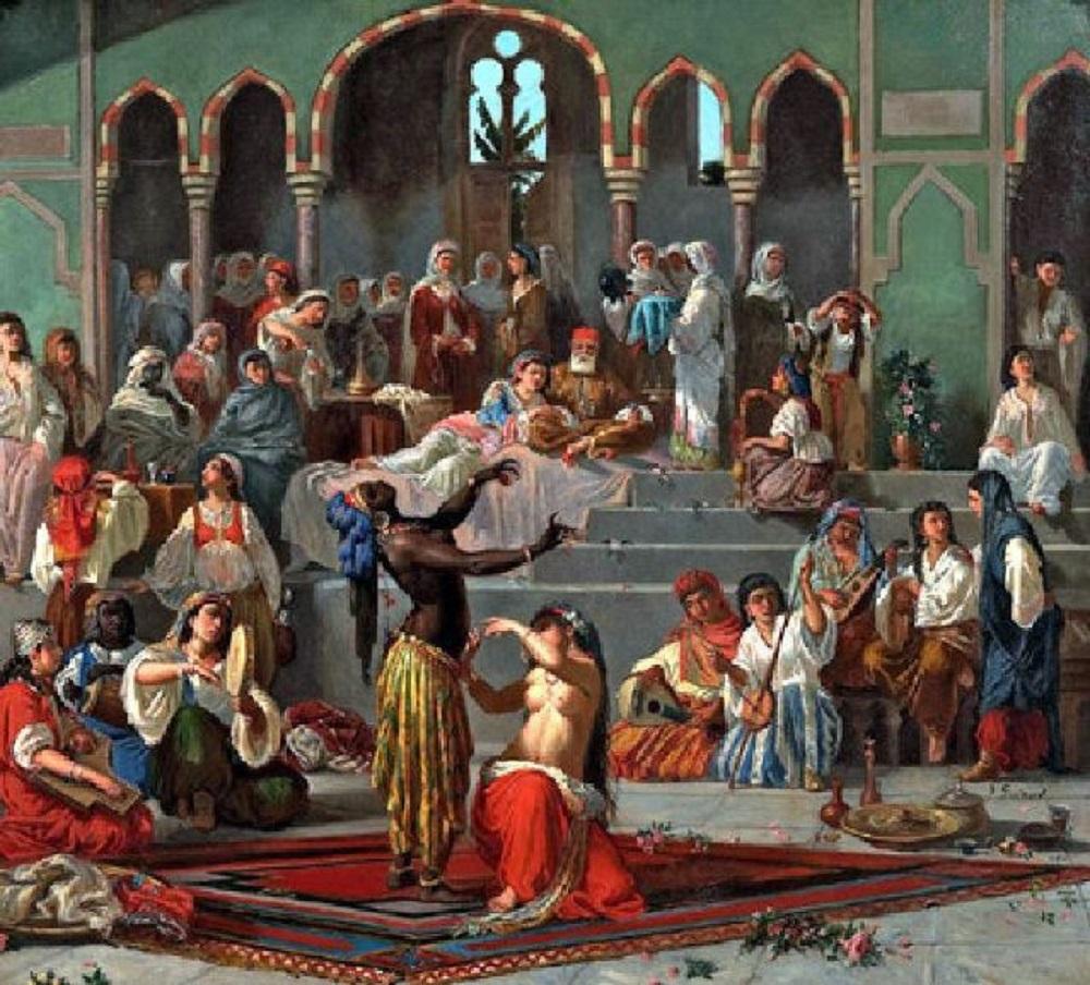 Batı .Türk Osmanlı Haremi. Harem Özellikleri Avrupa Osmanlıda Kadın Kadınlar Osmanlı Sarayı Harem Resim Görüntü Ottoman Empire Palace Bilgi Danseuses Du Harem