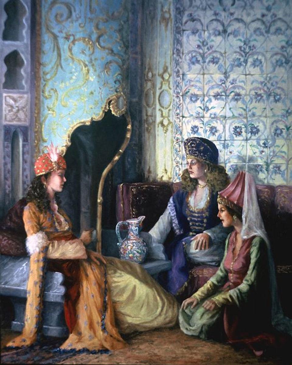 Eski İstanbul Tarihi Eski Osmanlı Manzarası Tablo Bilgi Resimleri Osmanlı Padişah Hünkar Saray Topkapı Sarayı Sultan Hanım Ottoman Empire Ottomane Palace Harem Nedir