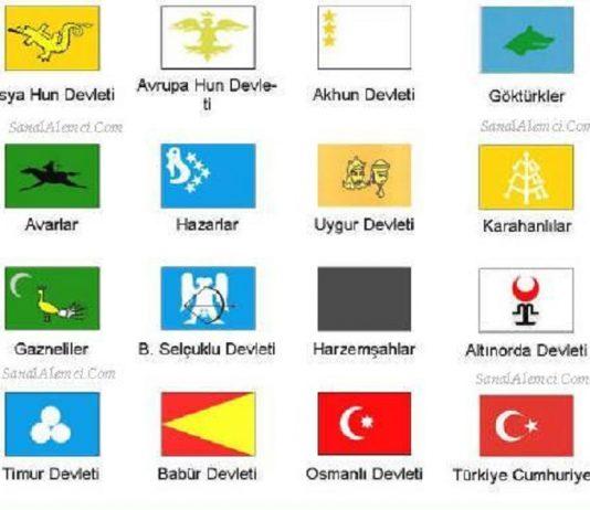 Eski Ve Yeni Türk Devletleri İsimleri Tarihleri Bayrakları. Kuruluş Yıkılış Tarihleri Türk İmparatorlukları Hakanlıkları.eski Turk Devleti Bayraklari