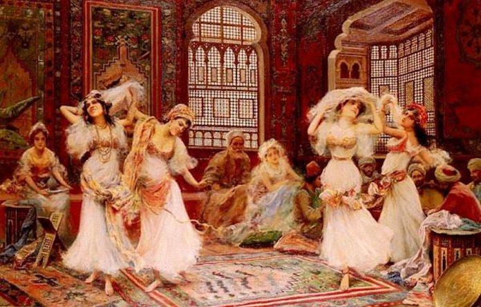 Haremden Görüntüler Türk Kızı Tablo Türk Sarayı Haremi Tarihi Eski Cariye Kadın Görseli Padişahı Sultanları Saray Haremi Ailesi Eşleri Gözde İkbal