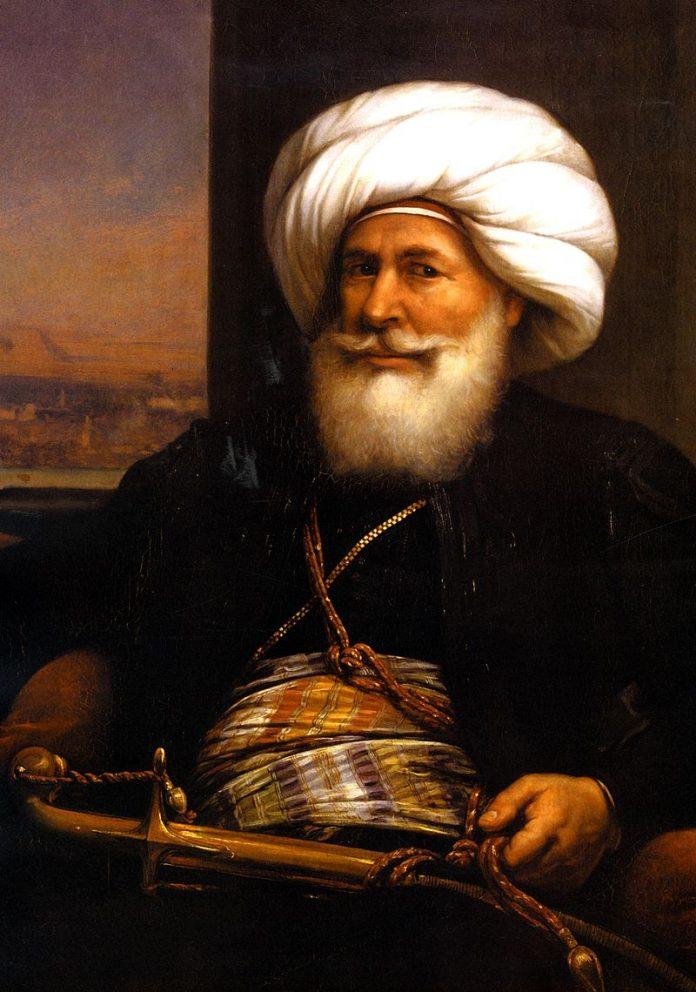 Kavalalı Mehmet Ali Paşa Auguste Couder Tarafından 1841de Yapılan Portresi Modern Egypt Muhammad Ali