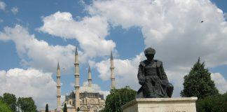 Mimar Sinan Heykeli Ve Selimiye Camii Mimarsinan Yapıtları Geçmiş Dünya Usta Mimarlık Mimari Köprü Yol Han Su Kemeri Saray Edirne