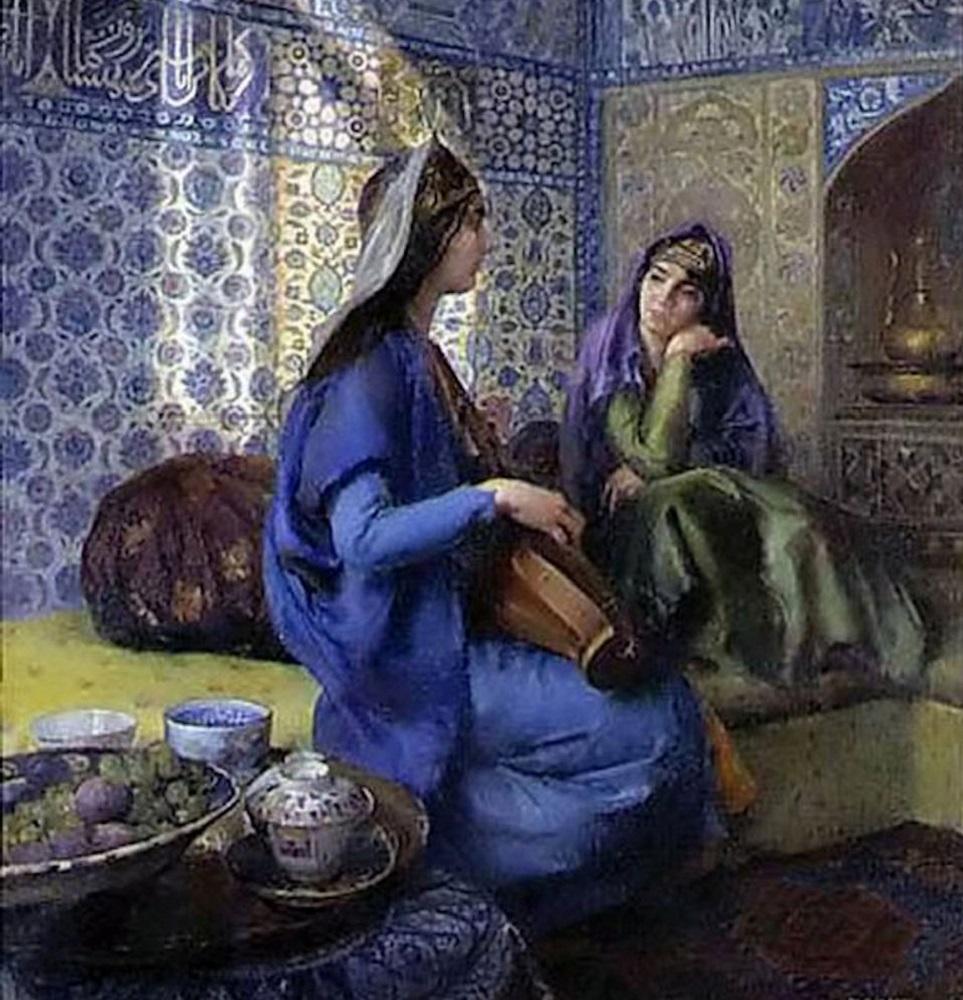 Osmanlı 15. Yüzyıl Haremin İlk Kuruluşu Fatih Sultan Mehmed Ve 3. Murad Ottoman Harem Resimleri. Osmanlılar Padişahları Sultanları Saray