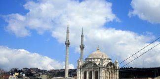 Osmanlı Camileri Özellikleri Ve Cami Mimarisi Teknikleri İstanbul Boğaziçi Beşiktaş Ilçesi.Büyük Mecidiye Camii