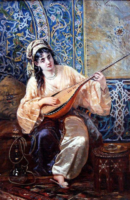 Osmanlı Devleti Musik Musiki. Ottoman Harem Resimleri.Türk Haremleri Ailesi Eşi Valide Sultanı Hanım Sultan İkbal Kadını Hanımı Kızları Kız Hünkar Sarayı