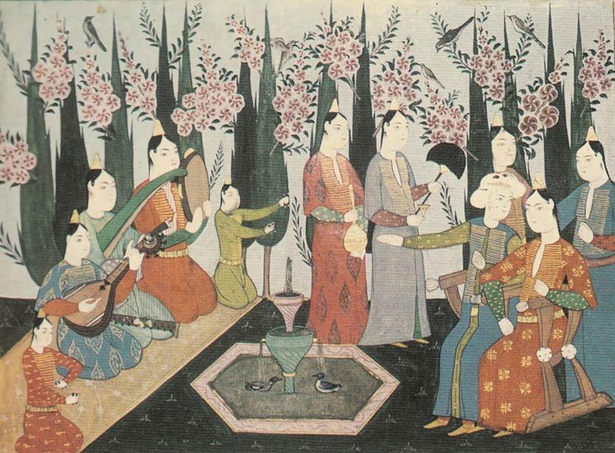 Osmanlı Kadınları Osmanlı Devleti Musikisi Müziği. Ottoman Empire Music Palace Harem.Ottomano Sultan Çalgı Resimleri Osmanli Haremi Haremin ünlü şair Ve Bestekarları