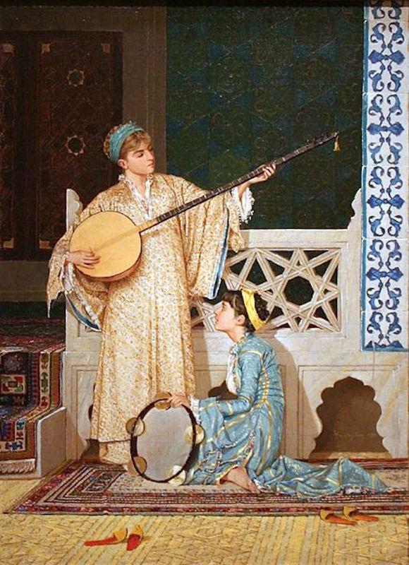 Osmanlı Musik Musiki. Ottoman Harem Resimleri. Müzikal Enstrüman Çalgıları Sarayda ÇalmaTarihi Tabloları Sultan Eşleri Gözdesi Ikbali Kadınları