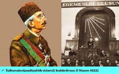 Osmanlı Padişahlık Saltanatın Kaldırılması Özet Konu Anlatımı Cumhuriyet Bayrami Vahdettin