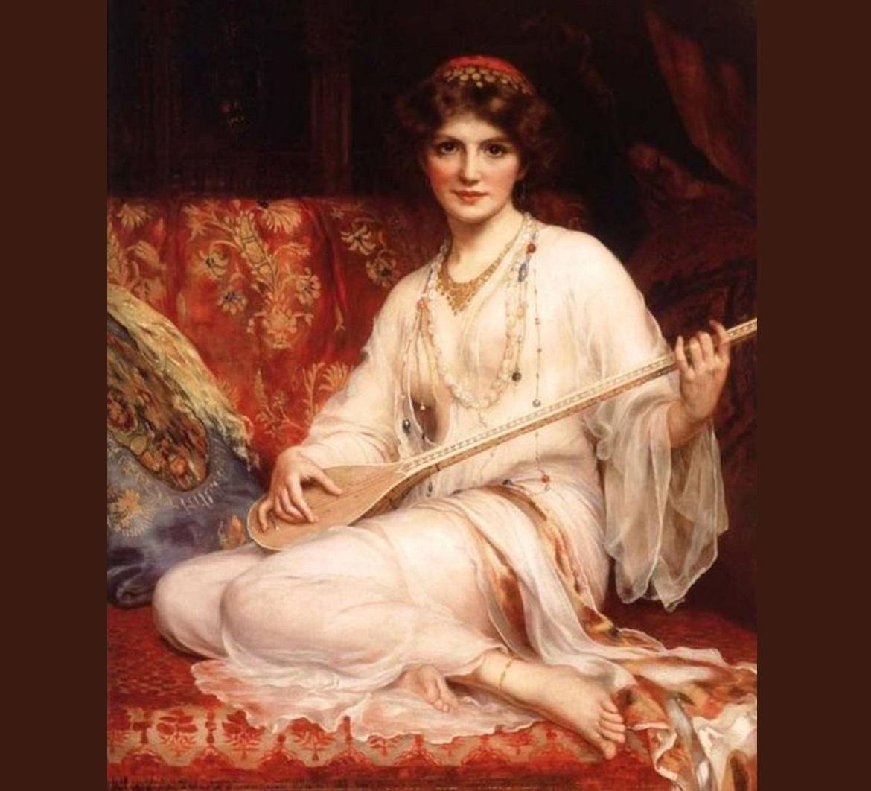 Osmanlı Sarayları Harem Bağlama Saz Müzik Enstrümanı Çalan Güzel Cariye Tarihi Nedir Ve Kimdir Halayık Cariyeler Nasıl Yaşarlardı Köle Kısaca Ne DenmekCariye Nedir Kimdir