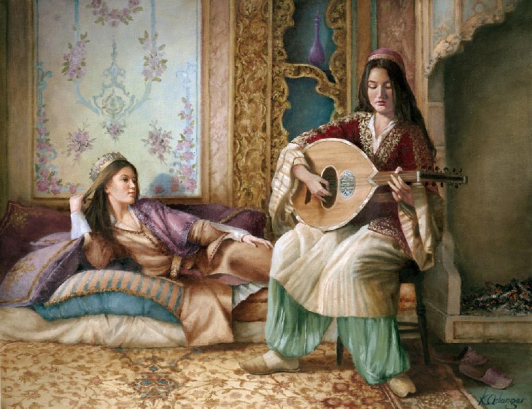 Osmanlı Türk Müziğinde Kadın Bestekarlar Musikisi Bayan Kız Hanım Besteciler Musikişinas Sarayı Harem Resim Görüntü Nota Görsel Ottoman Empire