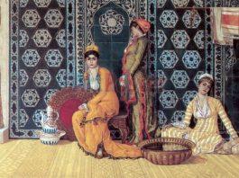 Padişah Abdülmecid Ailesi Haremi Eşleri Şehzadeleri Ve Kız Çocukları 1782 Osman Hamdi Mihrap Kadin Oryantalist Oryantalism Turk Turkiye Canvas Kanvas Harem Osmanli Ottoman