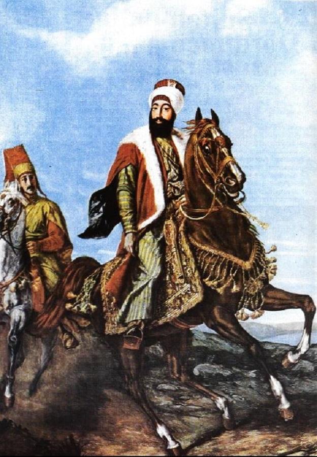 Padişah II. Mahmud Sened I İttifak Ve Ayanlar Alemdar Vakası. Osmanlı Padişahı İslam Halifesi. Ottoman Empire