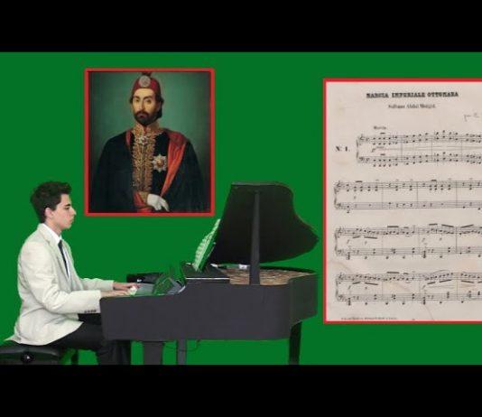 OSMANLI İMPARATORLUK MARŞI Sultan Abdülmecit Han, Guatelli Callisto, 12 Şarkı Piyano Albümü