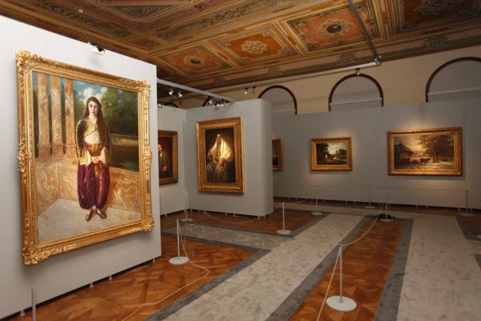 RESİM MÜZESİ Sarayların Seçkin Tabloları Dolmabahçe Sarayı Veliahd Dairesinde. Milli Saraylar Resim Müze Istanbul Dolmabahçe Palace