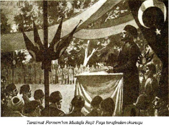 Tanzımat Fermanı Esasları Nedir Yenilikleri Ve Sonuçları Gülhâne Parkı İstanbul. Ferman Okunurken. Sultan Abdulmecit Osmanlı Devleti Islahat Ve Reformları