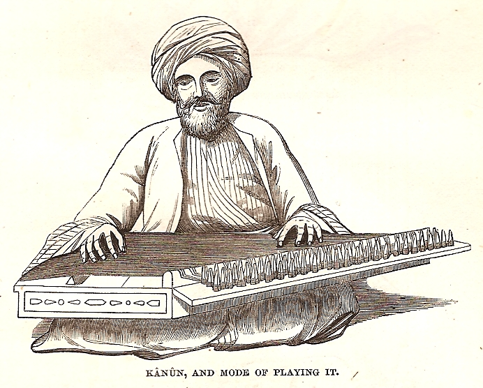 Türk Osmanlı Klasik Türk Müziği Aletleri Mızraplı Telli Musiki Sazları KANUN Enstrümanı Hakkında Bilgiler Ottoman Music